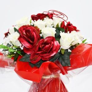 Pompes Funèbres Grosso : bouquet bulle rouge
