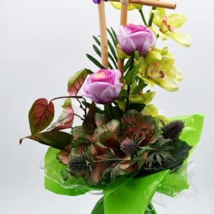 Pompes Funèbres Grosso : bouquet bulle avec structure