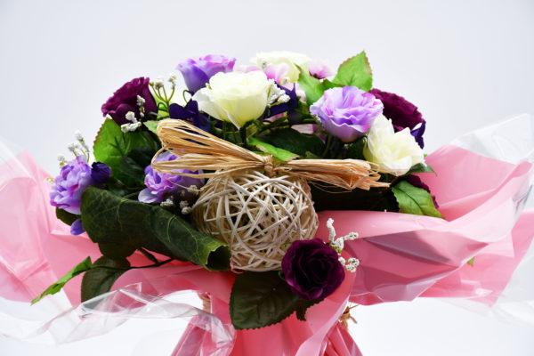Pompes Funèbres Grosso : bouquet bulle violet