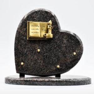 Pompes Funèbres Grosso : plaque funéraire en granit avec un livre